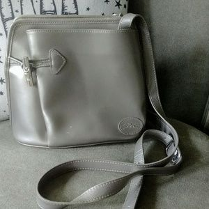 Longchamps Silver Toggle Silver Crossbody Purse